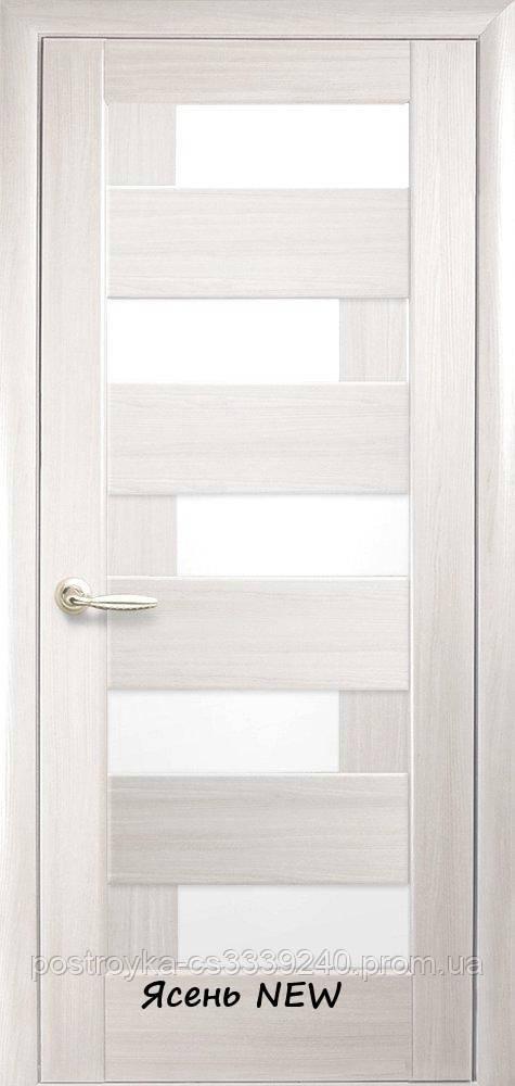Двери межкомнатные Ностра Пиана Новый Стиль ПВХ со стеклом сатин  60, 70, 80, 90