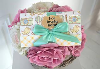 """Поздравительная открытка сертификат """"For Lovely Baby"""""""