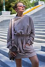Женское платье-худи из трехнитки с капюшоном (Виола jd), фото 3