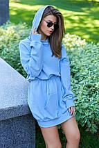 Женское платье-худи из трехнитки с капюшоном (Виола jd), фото 2