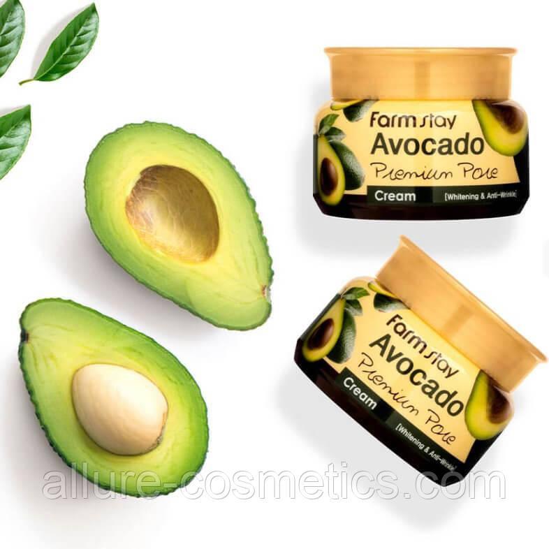 Крем для обличчя на основі екстракту авокадо FarmStay Avocado Premium Pore Cream