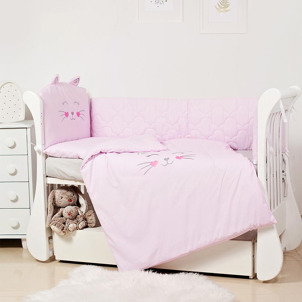 Детское постельное белье Twins Evo Miu  EVK-08 pink 6 эл
