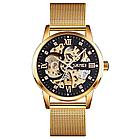 Мужские механические часы скелетон Skmei 9199, фото 9