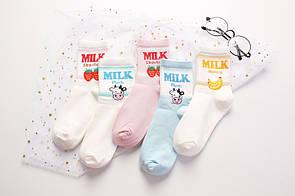 Круті шкарпетки з яскравим принтом шкарпетки з написом milk