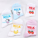 Круті шкарпетки з яскравим принтом носки с надписью milk, фото 2