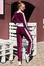 Велюровый брючный костюм женский марсала, фото 5