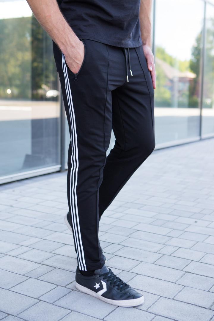 Мужские спортивные брюки с лампасами. Модные спортивные мужские штаны со стрелками.