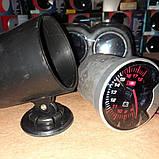 602701 LED Вольтметр на ніжці, діам.60мм.стрілочний чорний в корпусі, фото 3