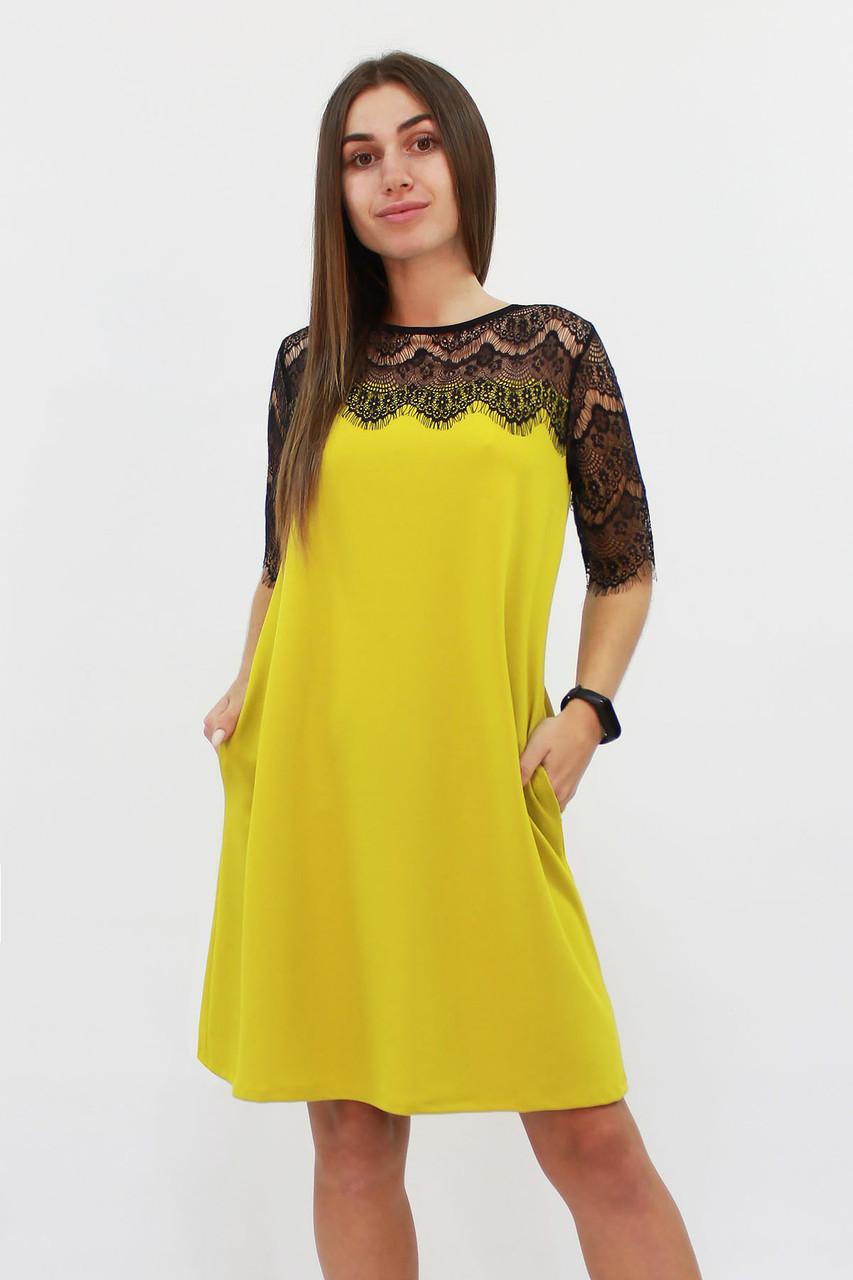 Коктейльне жіноче плаття Arizona, гірчиця