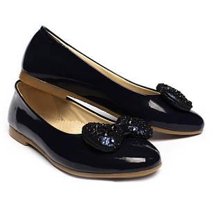 Лаковые туфли для девочки, синие, размеры 31, 32, 33, 34