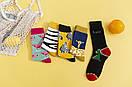 Круті шкарпетки з яскравим принтом носки со зверьками, фото 2