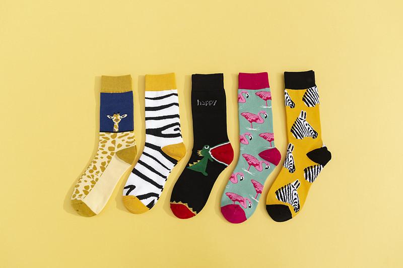 Круті шкарпетки з яскравим принтом носки со зверьками