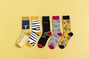 Круті шкарпетки з яскравим принтом шкарпетки зі звірятками