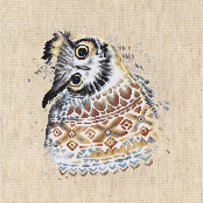 Набор для вышивания нитками Luca-S Животные Птицы Сова