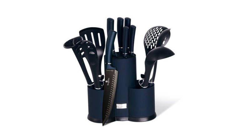 Набор кухонных принадлежностей Berlinger Haus Metallic Line Aquamarine Edition BH-6249 12 предметов, фото 2