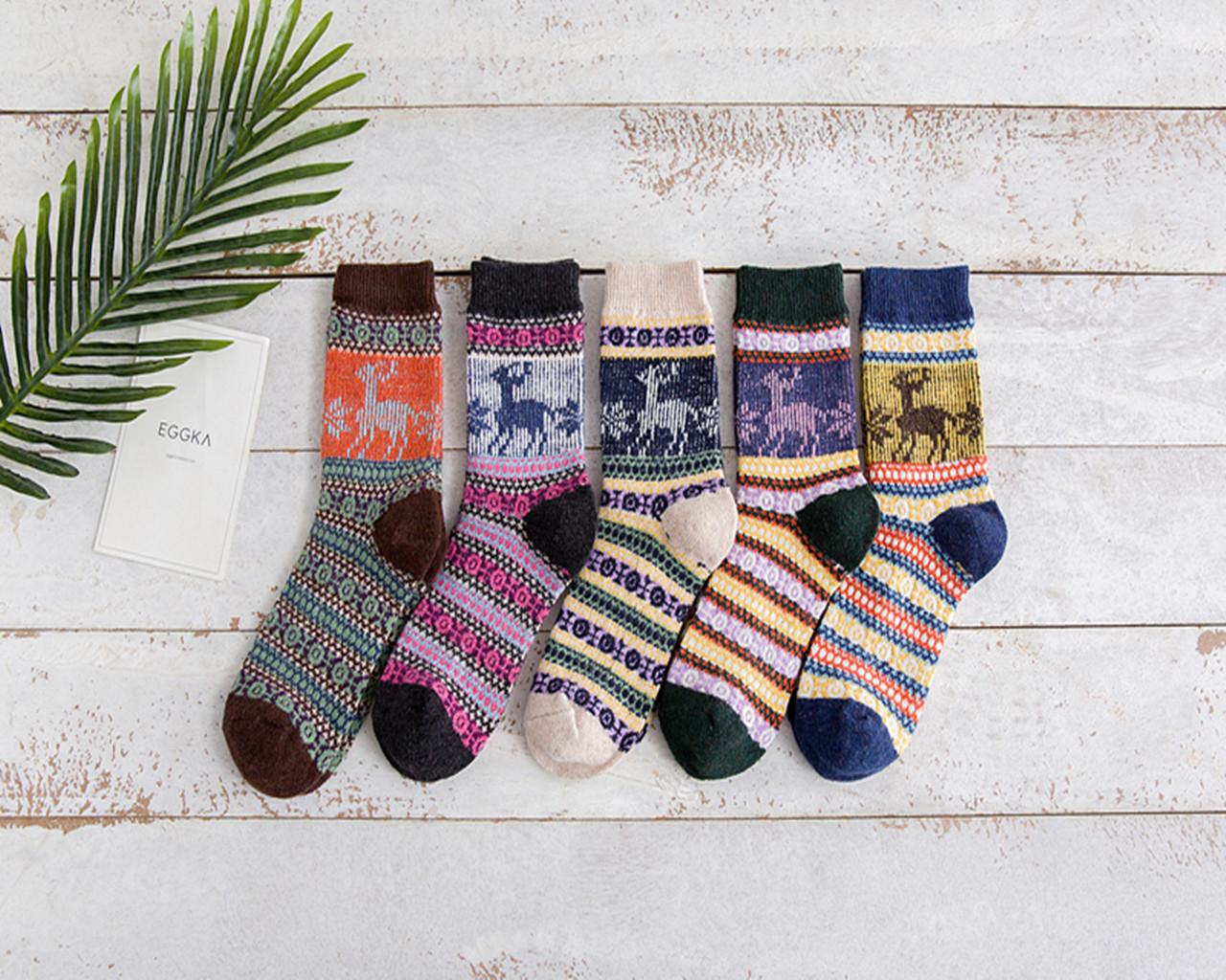 Різдвяні шкарпетки з оленями рождественские новогодние носки с оленями