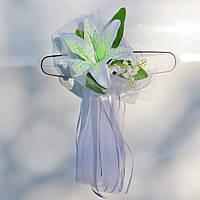 Вау! Комплект украшений на Свадебную машину Букетик 4 шт/уп лилии, Белый