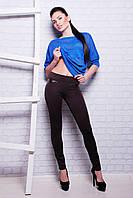 Леггинсы 213 АТ; цвета: коричневый   чёрный   синий   синий,  состав:35% коттон, 35% вискоза, 30% полиэстер