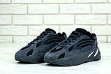 Женские кроссовки Adidas Yeezy Boost 700 в стиле Адидас Изи Буст ЧЕРНЫЕ (Реплика ААА+), фото 3