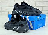 Женские кроссовки Adidas Yeezy Boost 700 в стиле Адидас Изи Буст ЧЕРНЫЕ (Реплика ААА+), фото 2