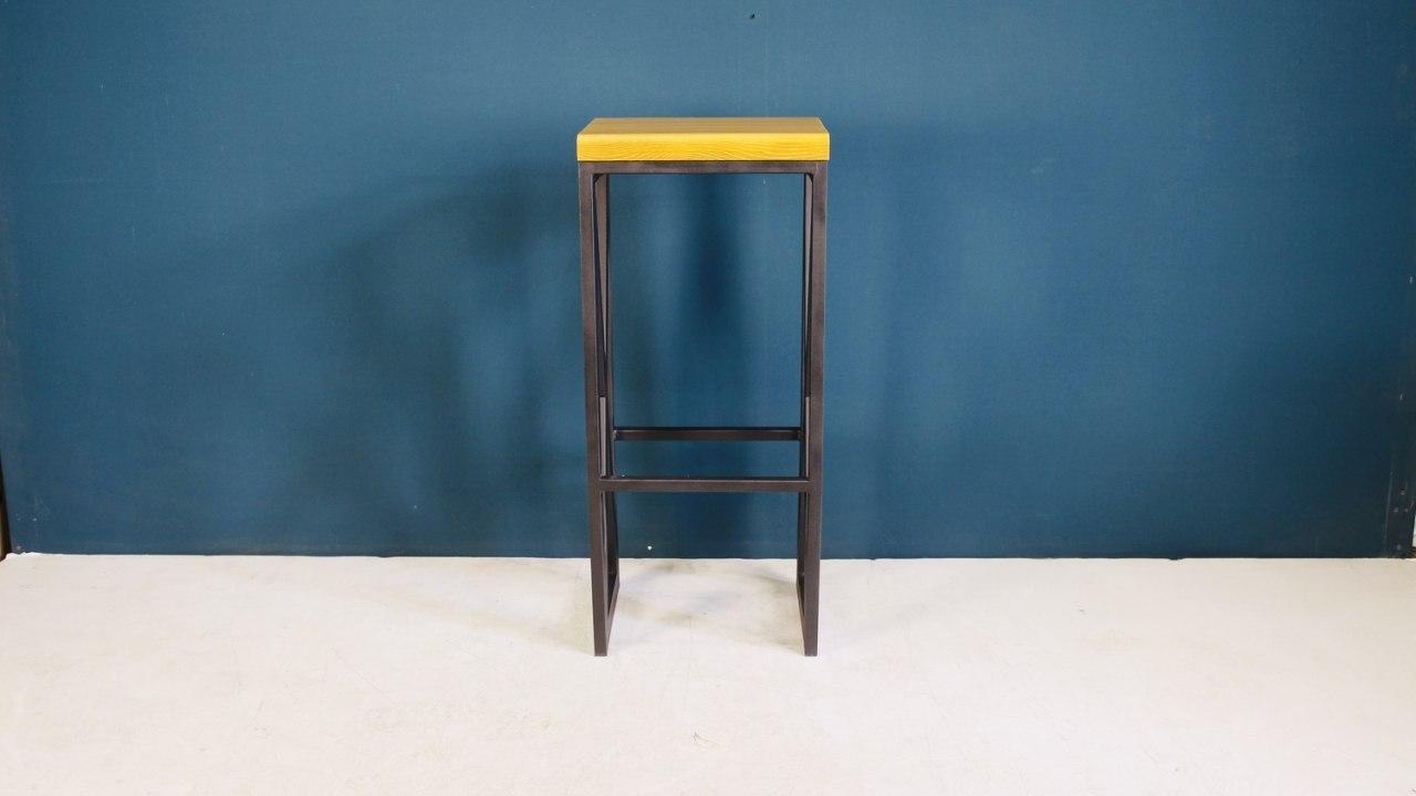 Дизайнерский барный стул для кафе из дерева и металла