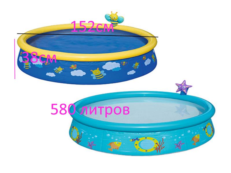 Наливна дитячий басейн Bestway 57326, з надувним кільцем