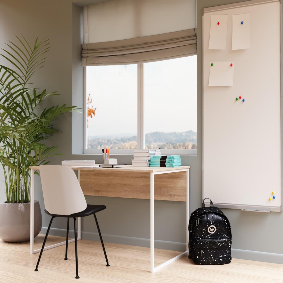"""Офісний стіл """"Універ 2 Білий"""" 740x1200x600 мм"""