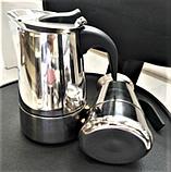 Индукционная гейзерная кофеварка из нержавеющей стали на 4 чашки Benson BN-152, фото 4