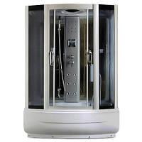 TS8009-1, гідробокс Miracle з панеллю керування, 170 х 85 см, рама сатин, скло сіре
