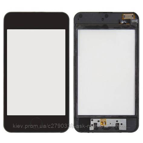 Сенсор для Apple iPod Touch 2G Original Black с рамкой и кнопкой HOME, фото 2