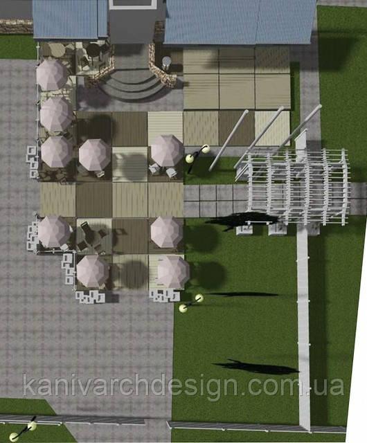 Дизайн-проект літнього кафе для туристичного комплексу «КНЯЖА ГОРА», фото 1