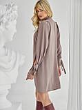Платье-трапеция с воротником аскот и рукавом летучая мышь, фото 7