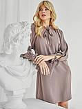 Сукня-трапеція з коміром аскот і рукавом кажан, фото 5