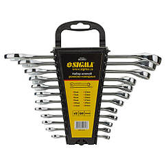 Ключи рожково-накидные 12шт 6-22мм CrV polished SIGMA (6010431)