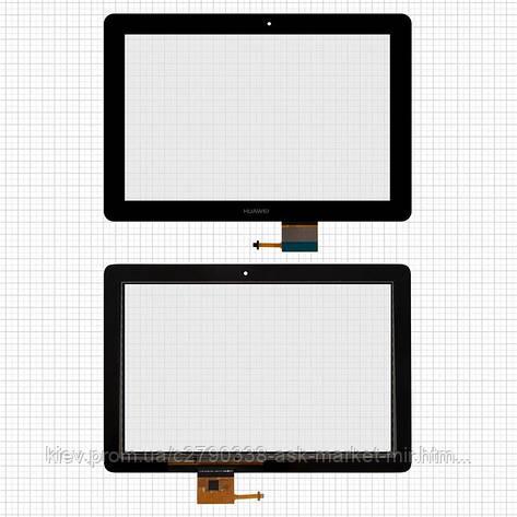 Сенсор для Huawei MediaPad 10 Link S10-201u, MediaPad 10 Link+ S10-231u Original Black, фото 2