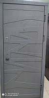Двери входные Акцент 860*2050 левая Цемент маренго,миндаль