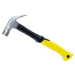 Молоток-гвоздодер 450г фиберглассовая ручка (магнит) SIGMA (4315011)