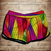 Шорты 3D принт женские-rainbow color