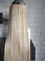 Одиночная широкая прядь цвет №22 бежевый блондин с розовинкой  70см длина, фото 3