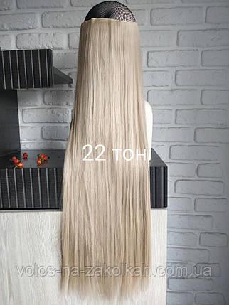 Одиночная широкая прядь цвет №22 бежевый блондин с розовинкой  70см длина, фото 2