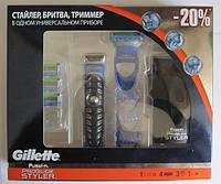 Бритва Gillette Fusion ProGlide Styler 3 in 1 + 4 сменные кассеты Gillette Fusion Proglide Power , фото 1
