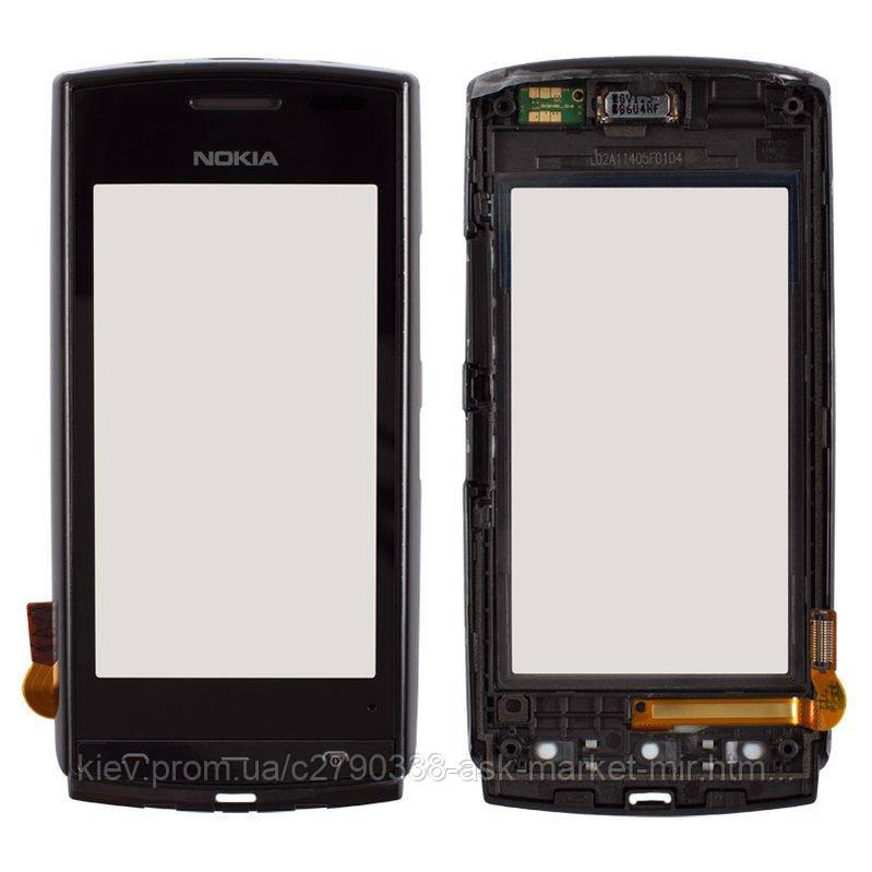 Сенсор для Nokia 500 Original Black с рамкой