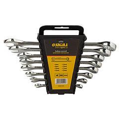 Ключи рожково-накидные 8шт 6-19мм CrV polished SIGMA (6010421)