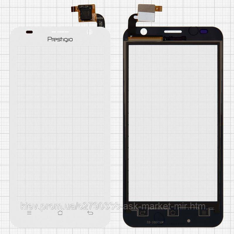Сенсор для Prestigio MultiPhone 3450 Duo Original White #QT052354506 WTP-C14.5BA-F