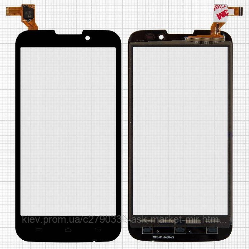 Сенсор для Prestigio MultiPhone 5503 Duo, MultiPhone 5517 Duo Original Black #MCF-050-1436-V1.0