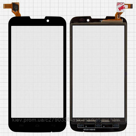 Сенсор для Prestigio MultiPhone 5503 Duo, MultiPhone 5517 Duo Original Black #MCF-050-1436-V1.0, фото 2