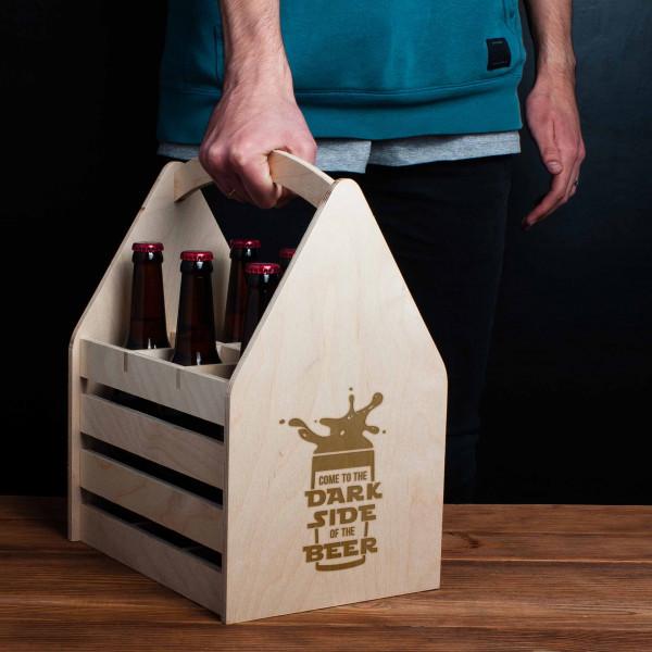 Ящик для пива Come to the dark side of the beer 29*35 см светлый (7696)
