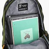 Рюкзак K20-939L-2 ущільнена спинка,світловідбиваючі елементи, органайзер, ключниця., фото 6