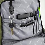 Рюкзак K20-939L-2 ущільнена спинка,світловідбиваючі елементи, органайзер, ключниця., фото 5