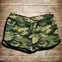 Шорты 3D принт женские-camuflage classic